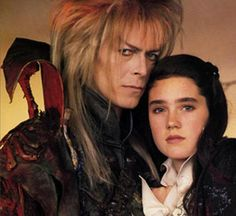 """jade-cooper: """"labyrinthnook: """"Wow, there's nothing like waking up to find a never-before-seen Labyrinth pic under the tag. This shot is very interesting - in terms of the pose and Bowie's expression, this is probably the most intimate Jareth/Sarah. David Bowie Labyrinth, Labyrinth 1986, Labyrinth Movie, Goblin King, Jennifer Connelly, Sarah And Jareth, Jim Henson Labyrinth, Pose, The Dark Crystal"""