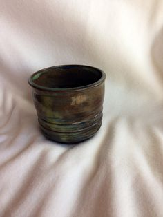 Wheel thrown ceramic Handleless Tea Coffee Mug by CraftyleftDee, $15.00