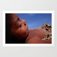 Wittos (Blue) Little Indian Sand Boy  Art Print by David Hernández-Palmar - $15.00