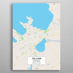 Tallinn map by Rockstone Wall Art Prints, Canvas Prints, Canvas Art, Wall Decor, Posters, Fine Art, Map, Colors, Wall Hanging Decor