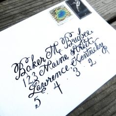 Envelope calligraphy isn't as hard as it looks. Follow this tutorial to create amazing calligraphy perfect for wedding invitations.