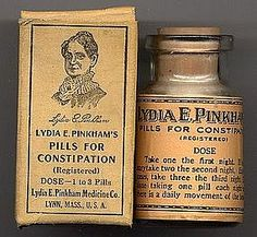 Lydia E. Pinkham Pills for Constipation.