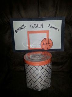 Basketball hoop Valentine box