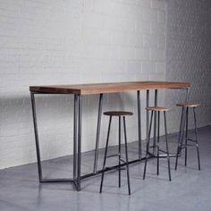 Tall Oak Bar Table