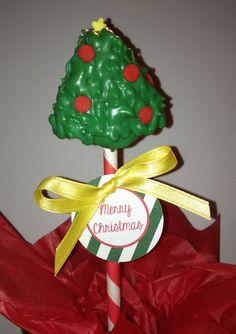 Christmas Tree Cake Pops.