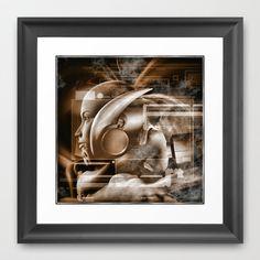 Robot c Framed Art Print by Jean-François Dupuis - $40.00
