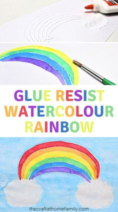 This colourful craft requires only a few simple materials, and it's suitable for both younger and older kids. Find out how you can use school glue and watercolour paint to create a beautiful rainbow that you'll be proud to hang in your window! Find out how to make this easy DIY rainbow craft for kids at home using simple materials that you already have. Older kids will be able to complete the entire project themselves, but even toddlers and preschoolers will love painting their own rainbow!