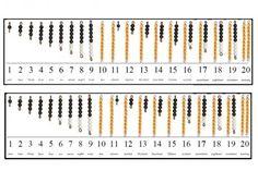 Montessori Numberlines Black and White