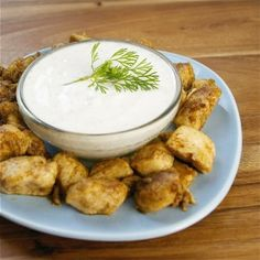 Chicken bites seasoned and cooked in coconut oil - by This Chick Cooks Healthy Food Blogs, Good Healthy Recipes, Unique Recipes, Paleo Recipes, Real Food Recipes, Cooking Recipes, Yummy Food, Free Recipes, Simple Recipes