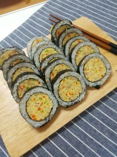Cooking Recipes For Dinner, Food Plating, Korean Food, Ratatouille, Zucchini, Sushi, Food And Drink, Vegetables, Ethnic Recipes
