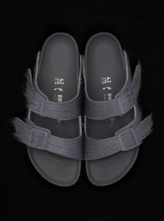 3ba7d1eae386 WHAT  Behold the  rickowens  birkenstock  ponyhair baby. Being delivered  this spring