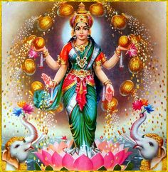 Some Jain temples also depict Sri Lakshmi as a goddess of artha (wealth) and kama (pleasure) Lakshmi hindu art Lakshmi wealth Lakshmi goddesses Lakshmi haram Lakshmi tanjore painting Lakshmi vaddanam Lakshmi bangle Lakshmi decoration Lakshmi necklace Indian Goddess, Goddess Lakshmi, Divine Mother, Mother Goddess, Ganesh Wallpaper, Lakshmi Images, Lord Vishnu Wallpapers, Hindu Deities, God Pictures