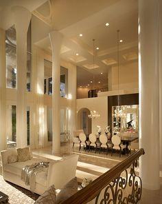 Interior .. Modern double volume living/dining