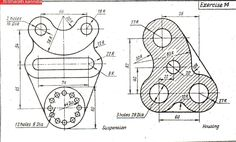 Mechanical Engineering Design, Geometric Construction, Autocad, 2d, Diagram, Drawings, Projects, Free, Architecture