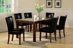 Telegraph Rectangluar Leg Table Dining Room Set | Coaster Furniture | Home Gallery Stores #coasterfurniturehome #coasterfurniturediningsets