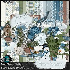 First Snow {Full Kit} - Available at #theStudio #CarinGrobeDesign #MadGeniusDesigns