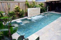 Most Popular Minimalist Small Swimming Poll Backyard Design Ideas Small Inground Pool, Backyard Pool Landscaping, Small Backyard Landscaping, Small Pools, Small Patio, Large Backyard, Small Backyards, Landscaping Ideas, Backyard Ideas
