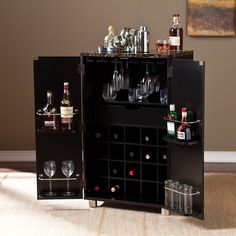 Wildon Home ® Capri Bar Cabinet with Wine Storage & Reviews   Wayfair