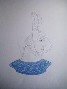 Rabbit Mask by Denise Nestor, via Flickr