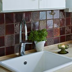 Terraviiva-hand made tiles Kitchen Dining, Dining Room, Bathrooms, Tiles, Kitchens, Artsy, Pottery, Clay, Colour