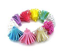 Looped Tassels - Decorative Tassels - 5 Assorted Color, No Cap Tassels - Tassels For Jewelry - Fun Purse Tassel - Key Chain Tassel - TD-0001 #etsy #tasselsforcrafts