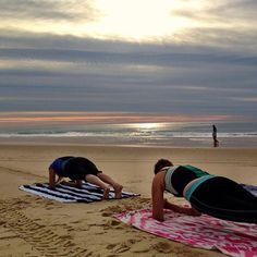 The perfect way to bring in a new day...beachside Pilates!