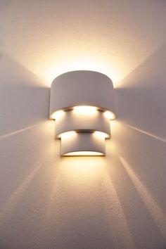 Applique Design Moderne Lampe de corridor Lampe murale Spot Plâtre blanc 62934 | Maison, Eclairage intérieur, Appliques murales | eBay!