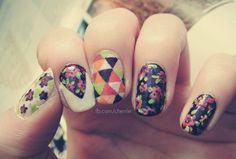 vintage inspired nail art