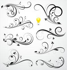 Flourish Elements Stock Image