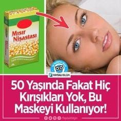 50 Years Old But No Wrinkles, Because Use This Homemade Mask – Face Care Ideas Homemade Mask, Homemade Skin Care, Homemade Beauty, Beauty Care, Beauty Skin, Health And Beauty, Just Natural Products, Best Skincare Products, Facial Cleansers