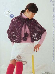 Receitas de Crochet: Pelerine