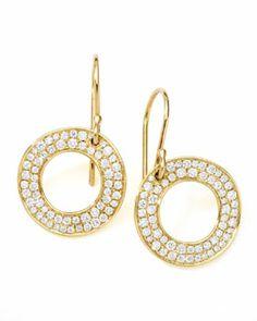 J5916 Ippolita Stardust Open Circle Drop Earrings