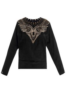 Ostia suede studded top by: ISABEL MARANT