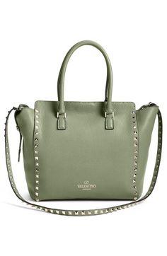 dbe0b739f856 Valentino  Rockstud  Double Handle Leather Shopper