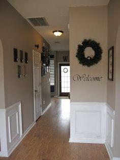 Hallway Color paint color: valspar blue arrow dark rustic frames, hobby lobby