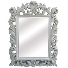 @Overstock - Antique White Traditional Rectangular 32 inch Portrait Wall Mirror - Add a classic accent to any room in your home with this stylish wall mirror. This mirror features a resin border with floral motifs and an antique finish.    http://www.overstock.com/Home-Garden/Antique-White-Traditional-Rectangular-32-inch-Portrait-Wall-Mirror/8015268/product.html?CID=214117  $188.99