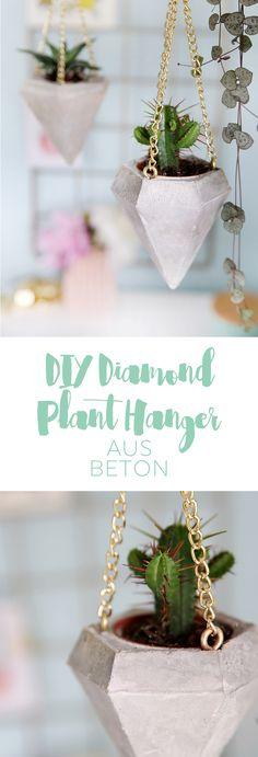 DIY Diamond Plant Hangers