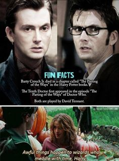 "When two worlds collide. Doctor Who and Harry Potter - ""The  Parting of the Ways"". Too perfect to be a coincidence."