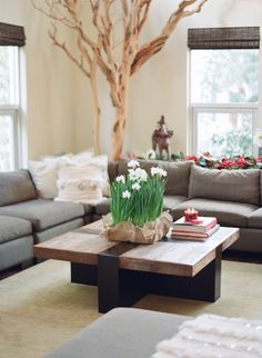 spring ideas for decorating a living room (9)