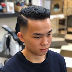 Haircut Casual Hairstyles For Men, Easy Mens Hairstyles, Slick Hairstyles, Great Haircuts, Haircuts For Men, Slicked Hair, Man Hair, Pompadour, Asian Men