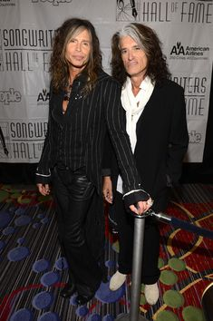 Steven Tyler Inductees Steven Tyler and Joe Perry of Aerosmith attend the Songwriters Hall of Fame 44th Annual Induction and Awards Dinner at the New York Marriott Marquis on June 13, 2013 in New York City.  #Aerosmith