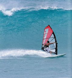surfing with a sail