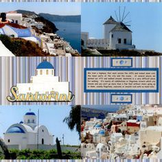 Henri Jean's Gallery with Layouts, Projects and Photos. Vacation Scrapbook, Wedding Scrapbook, Scrapbooking Layouts, Scrapbook Pages, Places To Travel, Places To Go, Wedding Honeymoons, Santorini Greece, Cruises