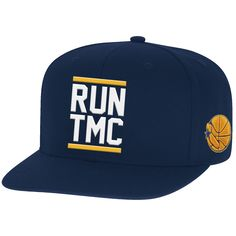 6552ffa9bc211 Golden State Warriors Mitchell   Ness Hardwood Classics Run TMC Snapback Hat  - Navy