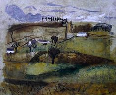 'Kingwater, Cumberland' by Ben Nicholson, 1929 Landscape Art, Landscape Paintings, Contemporary Landscape, Patrick Heron, Famous Artists, British Artists, Art Folder, Modern Artists, Painting & Drawing