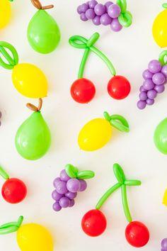 DIY Balloon Fruit   Oh Happy Day!