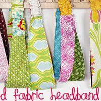 Sewing Tutorials : Fabric Headband Free Easy Sewing Pattern
