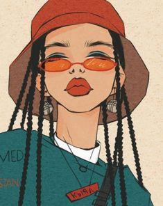 dessin art artistes créatifs Informations About Drawing Art Creative Artists Pin You can eas Arte Dope, Dope Art, Cartoon Kunst, Cartoon Art, Black Girl Art, Art Girl, Art Sketches, Art Drawings, Drawing Art