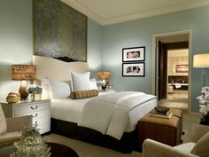 A penthouse bedroom with the comforts of home and then some. Trump Las Vegas