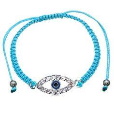$8.99 - Evil Eye Turquoise Lace Adjustable Fashion Bracelet